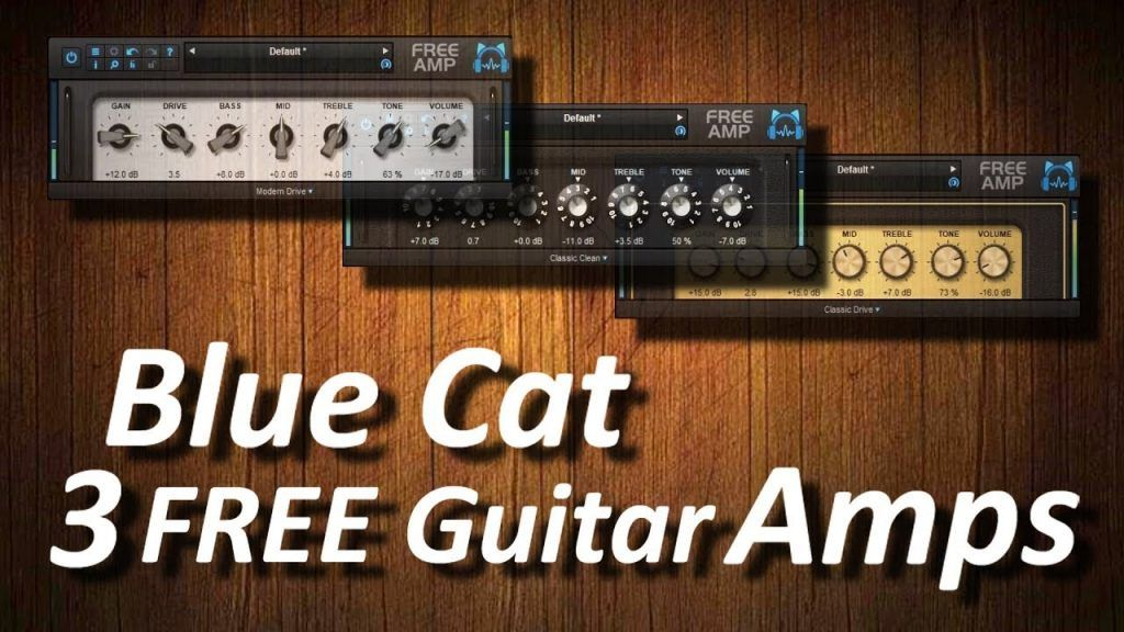 Free Down load Blue Cat Free Amps guitarras eléctricas VST