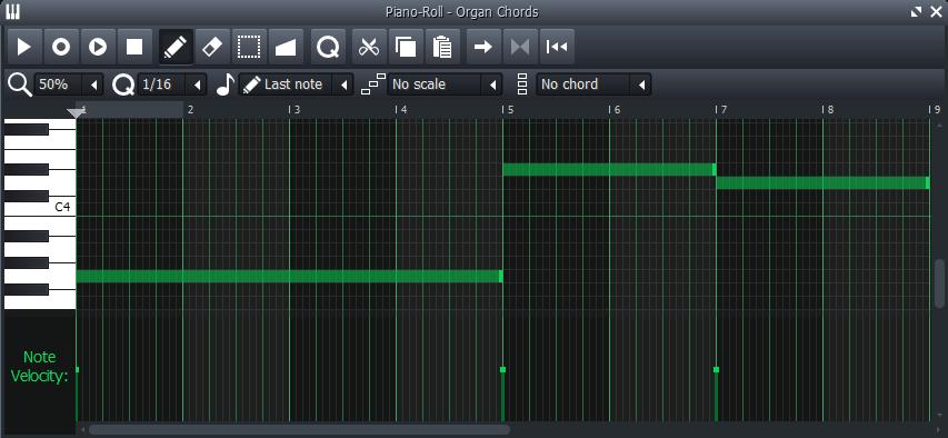 piano roll acordes